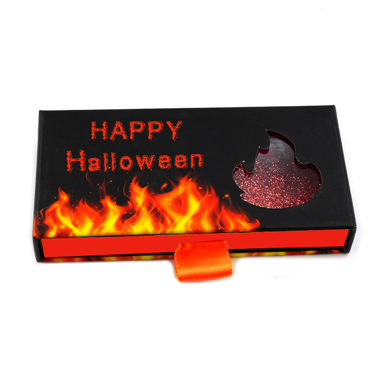 Halloween rectangle eyelashes box